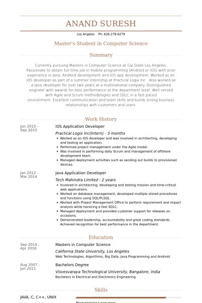 Application Developer Resume samples - VisualCV resume samples ...