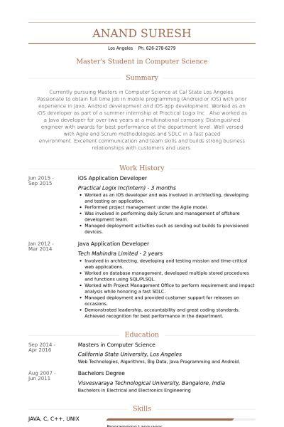 Application Developer Resume samples - VisualCV resume samples ...