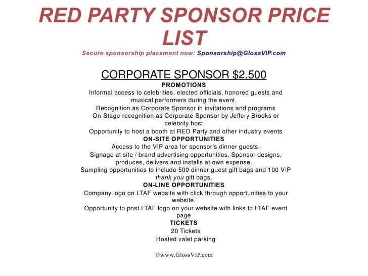 Party Sponsorship Proposal oakandale - party proposal