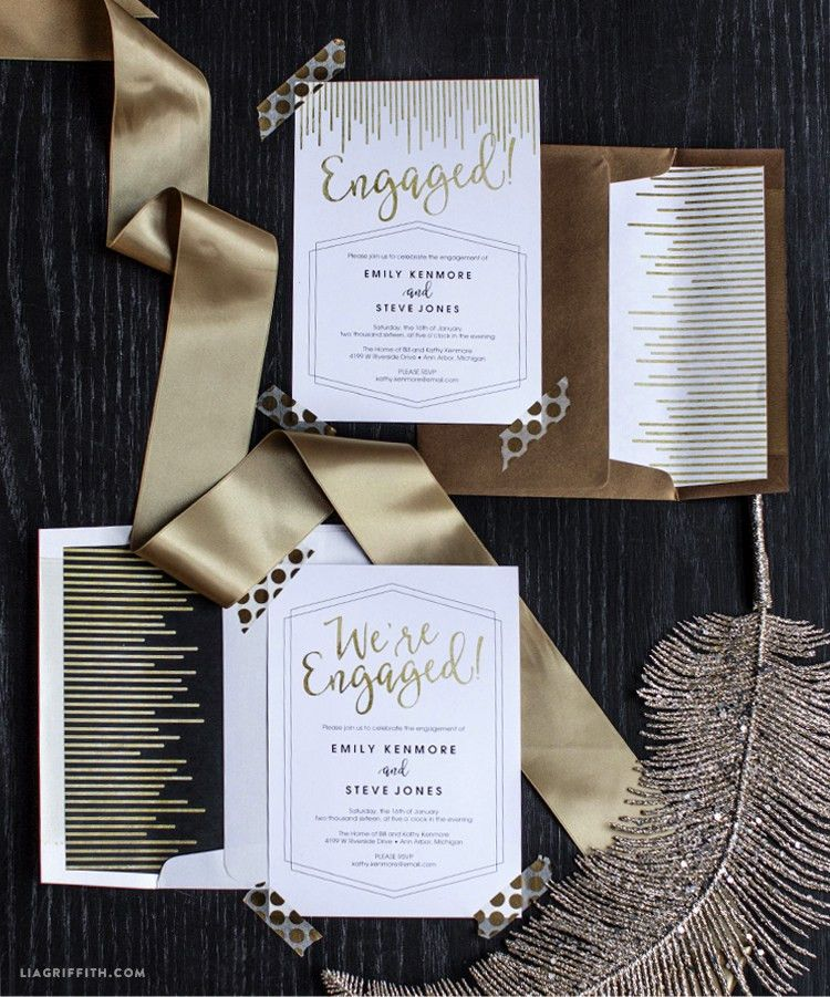 Free Engagement Party Invitation Templates Printable | Engagement ...