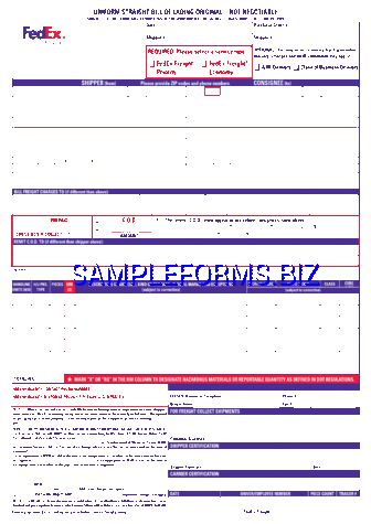 Bill of Lading Form templates & samples