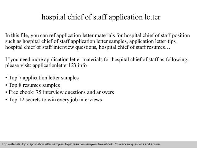 chief of staff resume sample top 8 hospital chief of staff resume