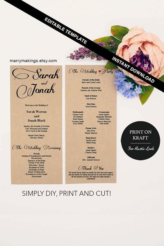 Best 25+ Program template ideas on Pinterest | Wedding program ...