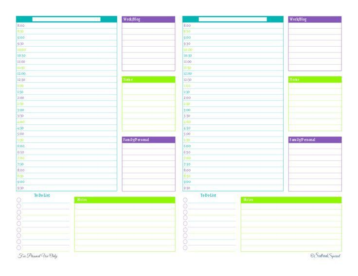 Best 25+ Half page planner printables ideas on Pinterest   Family ...