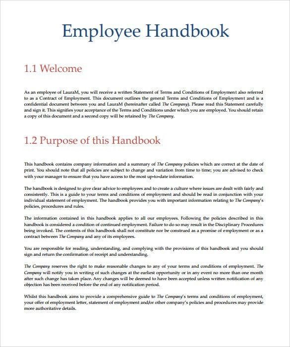 Employee Handbook Template | cyberuse