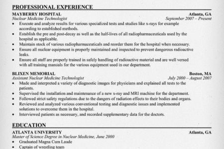 Medical Technologist Resume Samples Samples Resume For Job, Med ...