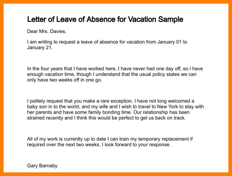 5+ letter format for leave application in school | joblettered
