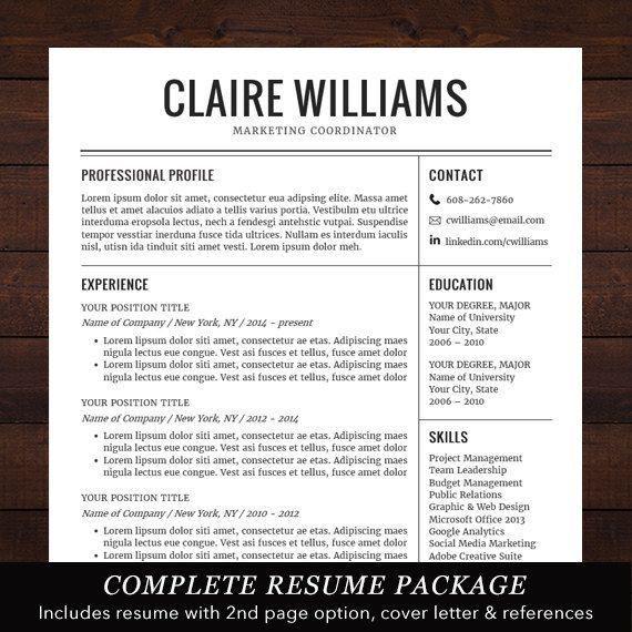 18 best Resume Templates images on Pinterest | Cv template, Resume ...