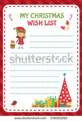 Christmas Wishlist Stock Vectors, Images & Vector Art | Shutterstock