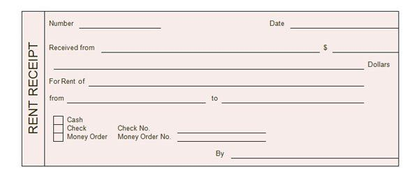 Rent Receipt Templates - Word Excel Formats