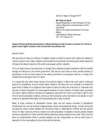 Cover Letter - OAS