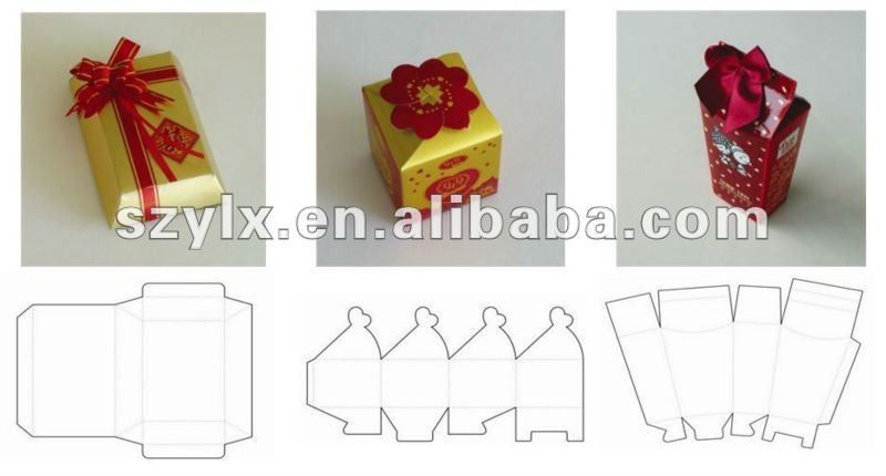 3d Craft Gift Box With Template Wedding Gift Box - Buy Wedding ...