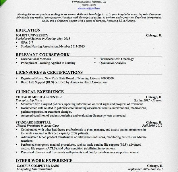 New Grad Nursing Resume Template. New Grad Nursing Cover Letter ...