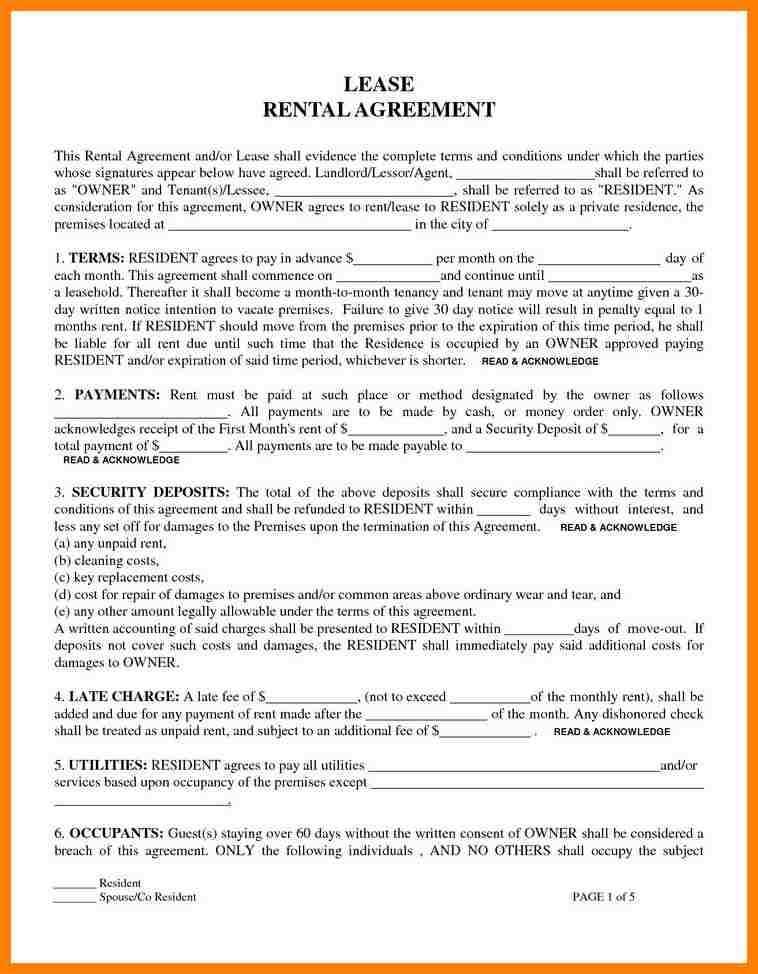 11+ rent lease agreement form | cio resumed
