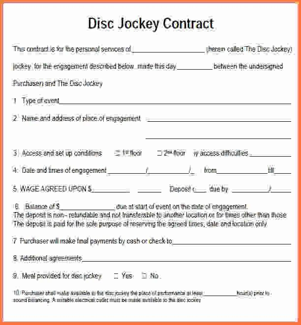 Dj Contract Template.Sample DJ Contract Form Template.png - Sales ...