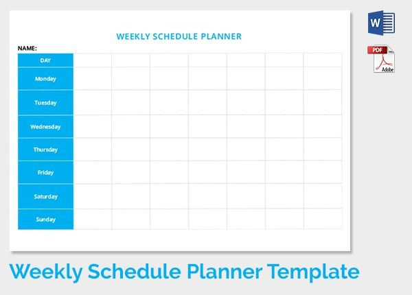 Weekly Schedule Template - 13+ Free Word, Excel, PDF Download ...