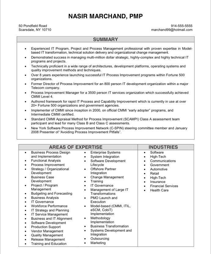 Project Manager Resume. Project Manager Cv Example 6 Project ...