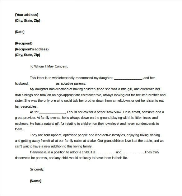 Free Reference Letter Template – 24+ Free Word, PDF Documents ...