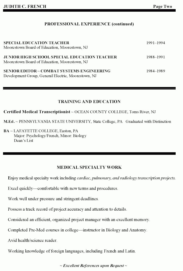 High School Special Education Teacher Resume - High School Special ...