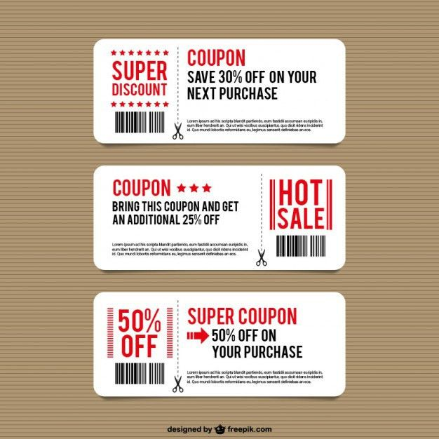 Discount coupon templates Vector | Free Download