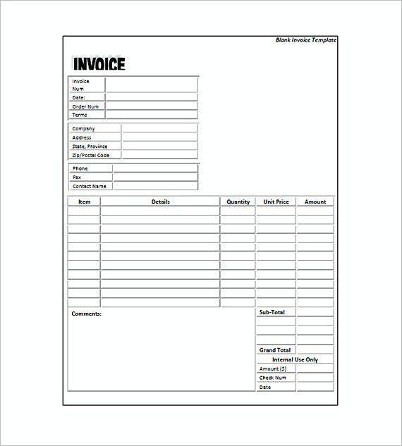 Standard Invoice Template