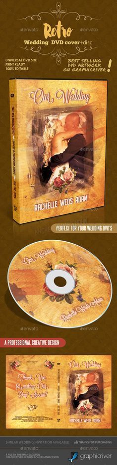 Wedding DVD Cover and DVD Label Template — Photoshop PSD #marriage ...