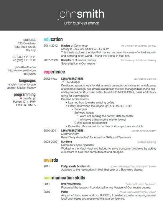 Fun Resume Templates Latex 7 15 Latex Resume Templates Free ...