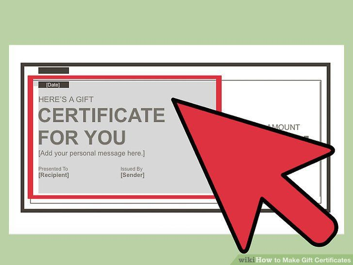 3 Ways to Make Gift Certificates - wikiHow