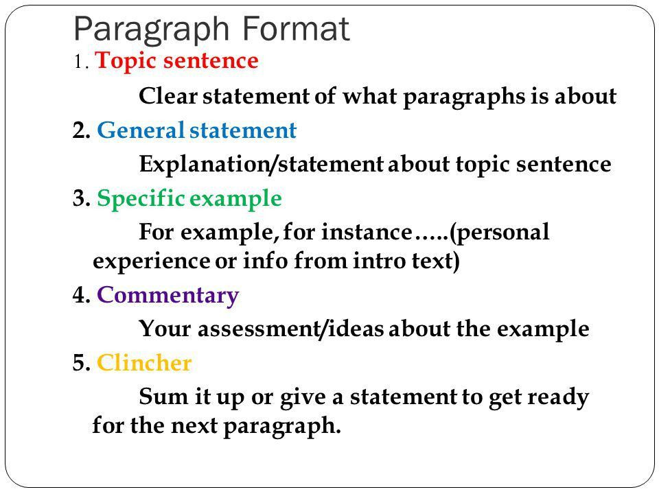 7. A good body paragraph should include: - ppt video online download