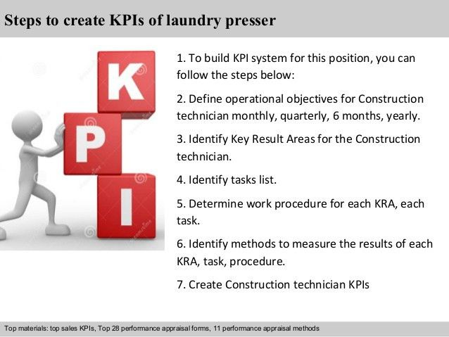 Laundry presser kpi