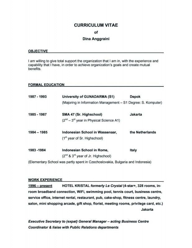 A Great Objective For A Resume | Samples Of Resumes