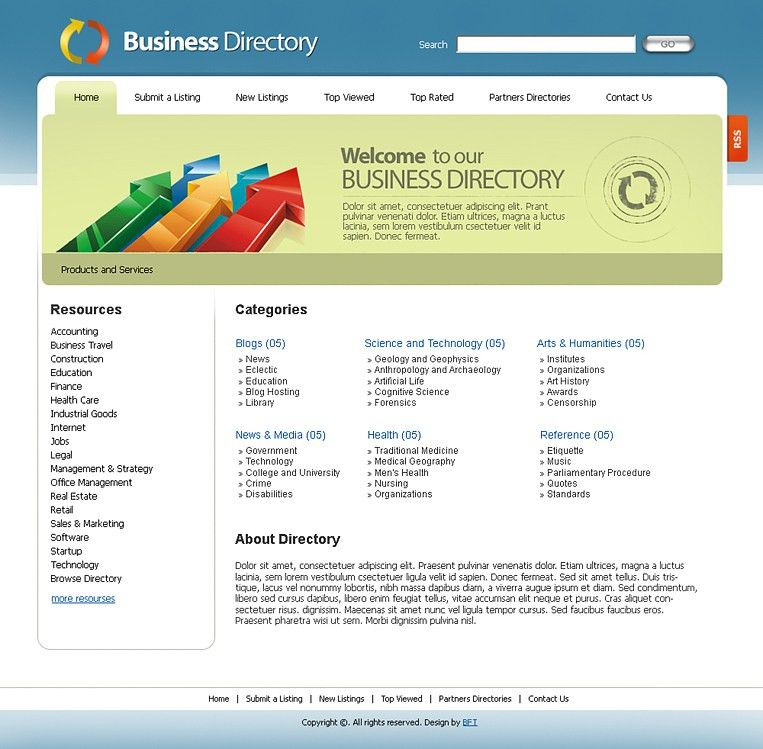 Free Business Directory Templates, Free Web 2.0 Templates, Free ...