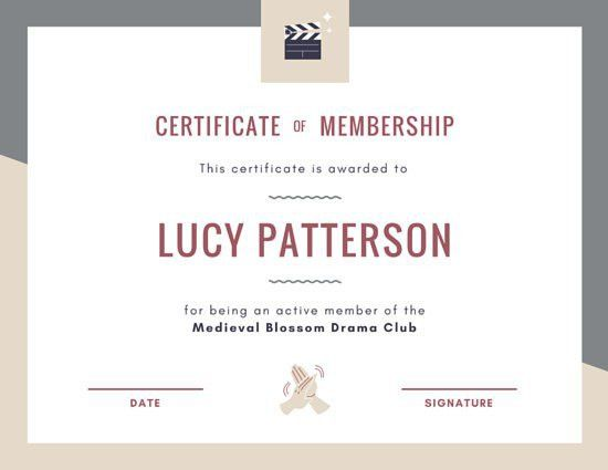 Membership Certificate Templates - Canva