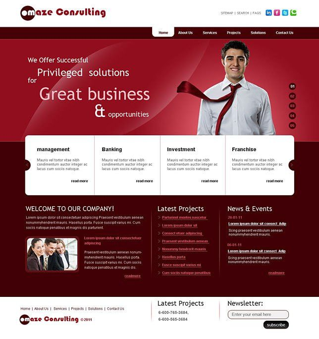 Inexpensive html5 site templates for business consultants