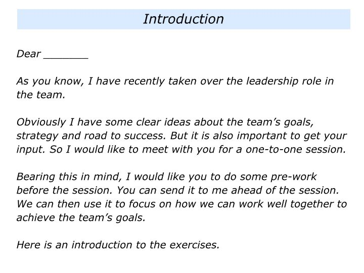I is for Meeting Individuals When Taking Over A Team - The ...