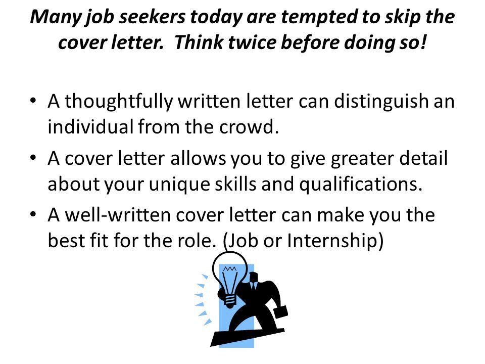 Crafting an Eye-Catching Cover Letter. Many job seekers today are ...