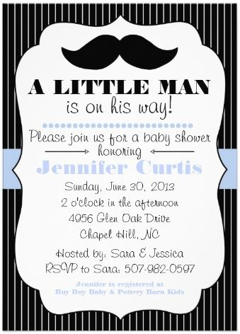 Little Man Baby Shower Invitations Template | Best Template Collection