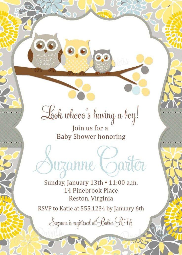 Owl Baby Shower Invites - vertabox.Com