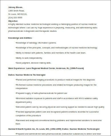 medical technologist resume example. medical laboratory assistant ...