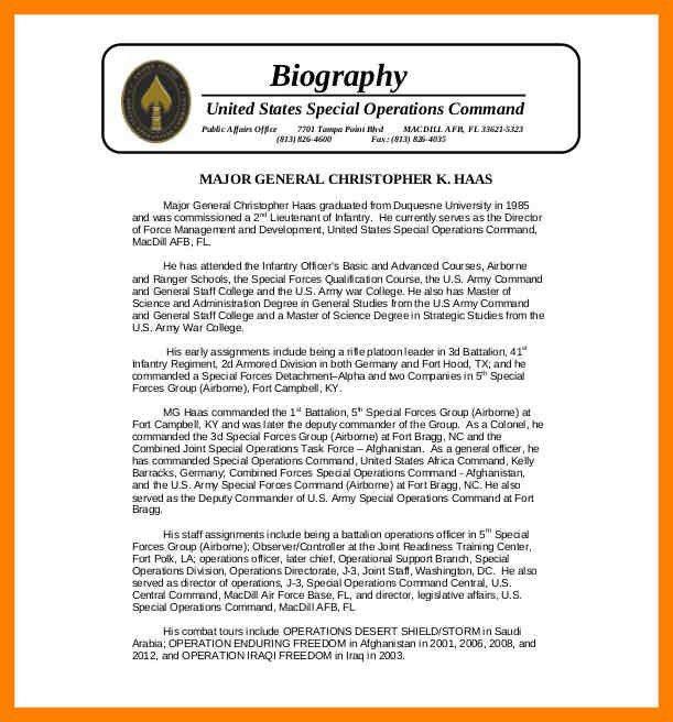 7+ bio template word | childcare resume
