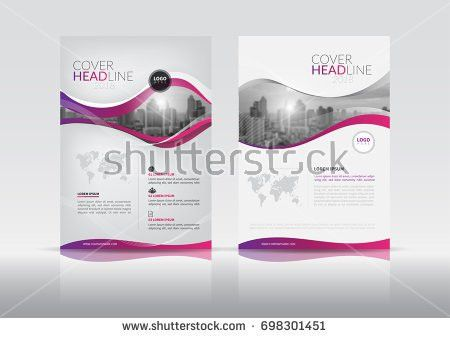 Cover Design Annual Report Cover Flyer Stock Vector 681568837 ...