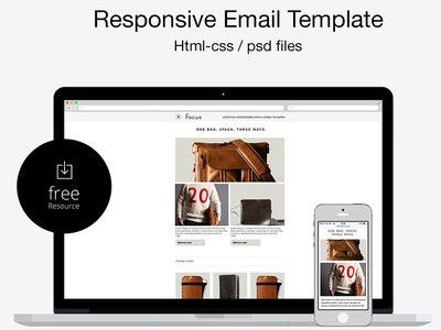 Free Psd/html Responsive Email Template by Marco Lopes - Dribbble