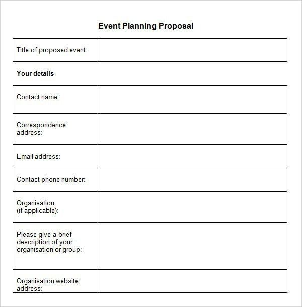 Event Proposal Template – bikeboulevardstucson.com