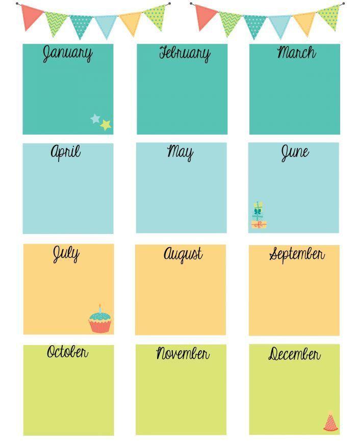 Best 25+ Birthday calendar ideas on Pinterest | Birthday reminder ...