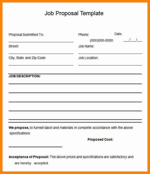 Contract Proposal. Service Contract Proposal 5+ Proposal Contract ...