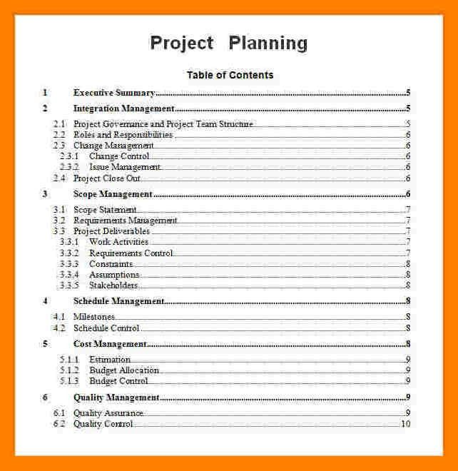 Project Plan Template Word. 6 project plan template word itinerary ...