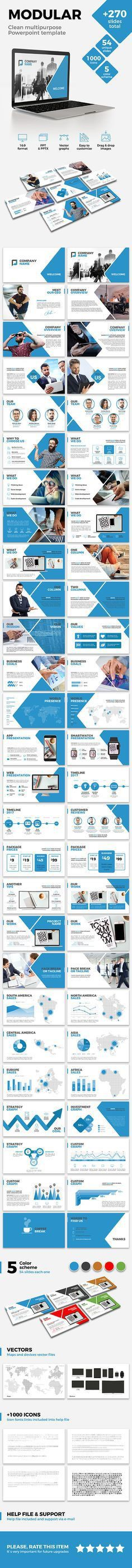 company profile powerpoint template dark blue preview | PPT ...