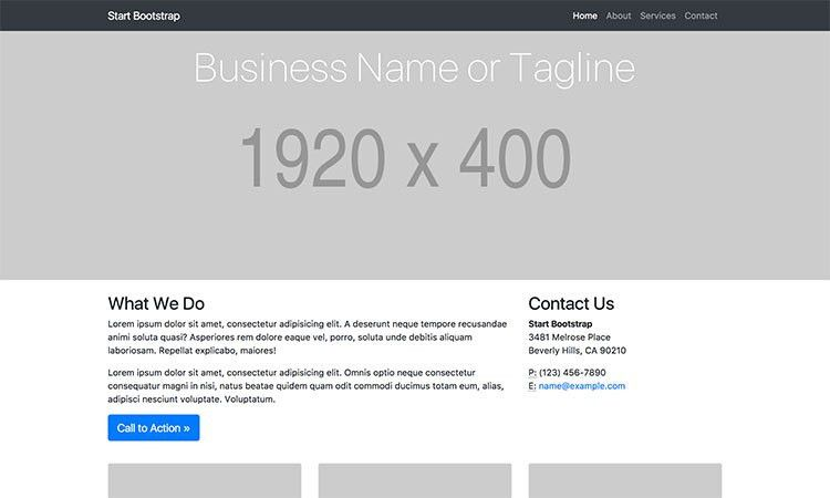All Free Bootstrap Themes & Templates - Start Bootstrap