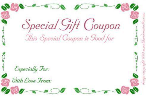 Avon Gift Certificate Template - Osclues.com