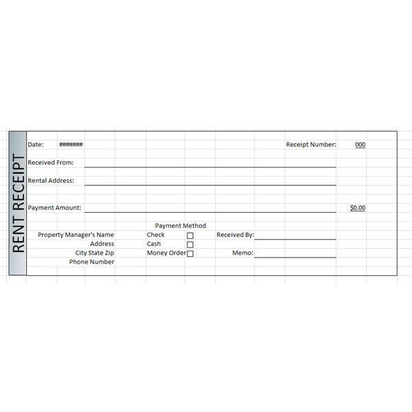 rent receipt form template